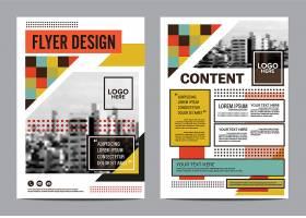 个性图形矢量海报宣传单画册模板设计