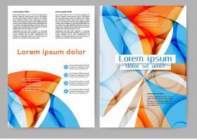 炫彩渐变圆形风格海报宣传单画册设计
