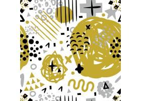 个性随意的涂鸦风T恤无缝装饰矢量图案