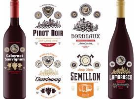 葡萄酒标签设计图片