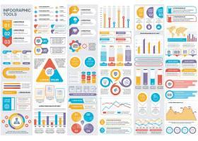 丰富的流程图信息图表矢量设计