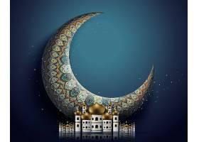 月亮形象西方国家开斋节主题插画