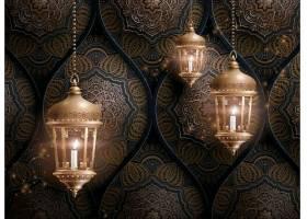 开斋节灯饰装饰元素设计