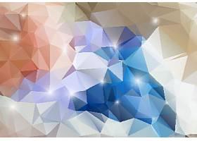 彩色立体几体三角拼接底纹背景