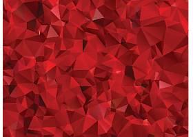 红色立体几体三角拼接底纹背景