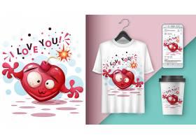 卡通T恤图案LOGO展示VI设计