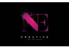 粉色个性字母组合形象创意LOGO设计