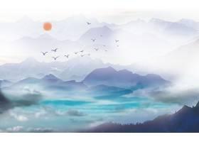 唯美意境中国风装饰画背景