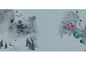 花鸟山水中式传统古典底纹背景banner