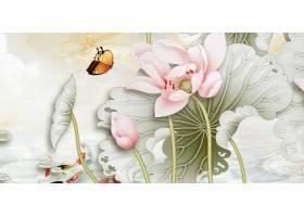 荷花中式传统古典底纹背景banner