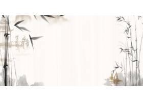 水墨竹子风景中式传统古典底纹背景banner