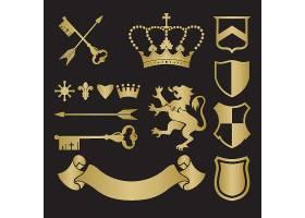 金色创意欧式徽章缎带图标设计