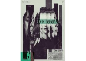 复古抽象电影宣传海报设计