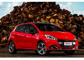 车辆,法国标致,208,法国标致,紧密的,汽车,红色,汽车,汽车,车辆,