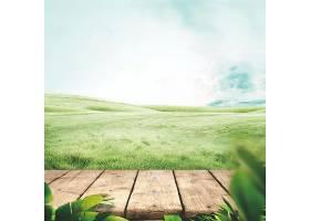 绿色牧场自然风景背景