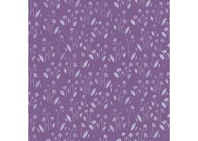 卡通紫色背景花朵无缝图案