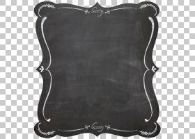 黑板框架粉笔,黑色边框,白色粉笔板PNG剪贴画边框,框架,简单,标签