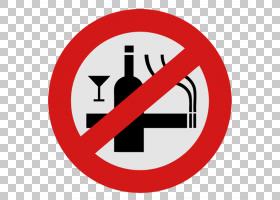 酒精饮料啤酒禁烟T恤,衬衫,禁止吸烟PNG剪贴画标签,商标,吊牌,不