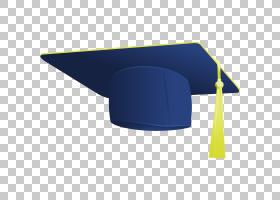 毕业典礼,毕业帽子PNG剪贴画蓝色,角,帽子,帽子矢量,研究生大学,