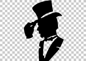 T恤帽子西装服装,一个男人与帽子PNG剪贴画的轮廓其他,时尚,标志,