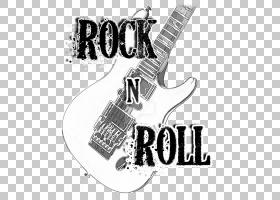 T恤摇滚乐摇滚音乐吉他,摇滚乐PNG剪贴画文本,海报,徽标,单色,音