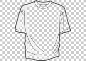 T恤服装,TSHIRT布局PNG剪贴画角,白,单色,黑,顶部,套筒,运动服,st