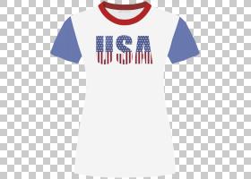 T恤美国服装,美国,衣服,儿童,服装PNG剪贴画T恤,蓝色,白色,儿童,