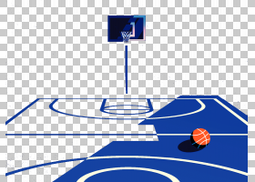 NBA篮球场,篮球场PNG剪贴画蓝色,角,运动,体育,材料,编号,结构,篮