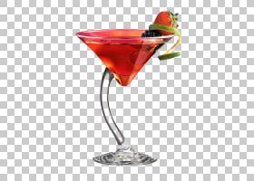 马提尼酒鸡尾酒装饰大都会葡萄酒鸡尾酒,鸡尾酒为两个PNG剪贴画马