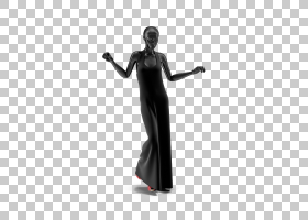 礼服旗袍模特模特,黑色礼服模特显示PNG剪贴画3D计算机图形学,黑图片