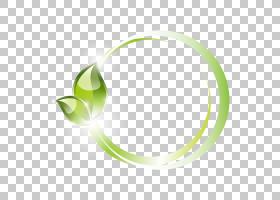 绿叶环模式PNG剪贴画爱,水彩叶子,戒指,几何图案,绿色矢量,秋天树