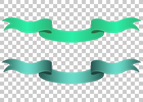 绿色和蓝色透明横幅,绿色丝带PNG剪贴画角度,功能区,文本,横幅,蓝