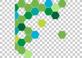 绿色抽象几何圈子,绿色和蓝色蜂窝样式PNG clipart角,环,矩形,圆