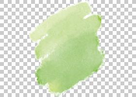 绿色水彩绘画画笔,绿色水彩涂鸦,关闭,绿色部分PNG剪贴画照片水彩