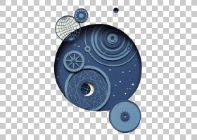 伦敦剪纸:探索当代造纸艺术和插画世界,外太空行星PNG剪贴画蓝色