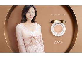 韩国美丽女性美妆用品海报设计通用模板图片