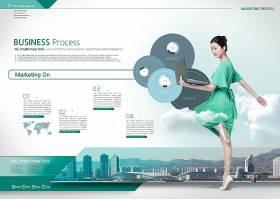 商务科技风现代画册模板设计