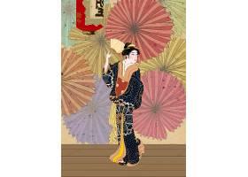 创意个性浮世绘日式插画设计