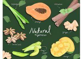 手绘水果蔬菜素材