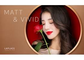 时尚美丽韩国女性美妆用品海报设计