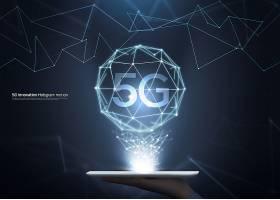 创意未来科技感5G海报背景图片