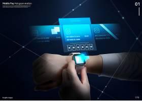 创意未来科技感电子智能产品海报背景图片