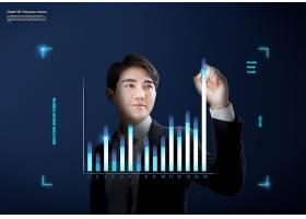 创意科技感数据表格海报背景图片