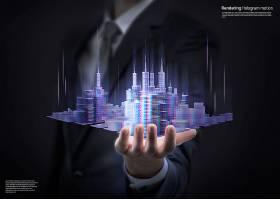 创意未来科技感海报背景图片