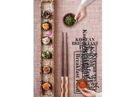 日式寿司饭团料理海报