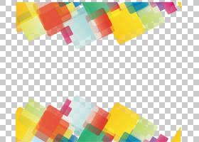 几何线欧几里德几何形状,抽象几何,黄色,绿色和红色数字艺术PNG剪