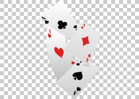 卡西诺二十一点赌场扑克牌扑克,下降扑克牌,四个什锦颜色的扑克牌