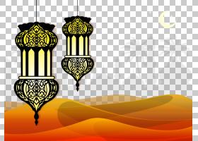 古兰经伊斯兰教清真寺墙贴花,装饰景观和伊斯兰TDP,两个黑色吊灯