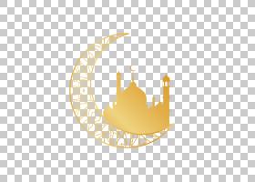 古兰经宗教伊斯兰教,金色月亮宗教图案,新月与清真寺PNG剪贴画金