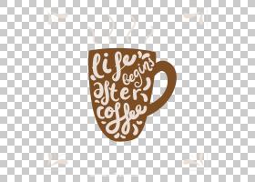 咖啡杯T,衬衫马克杯贴花,创意字母马克杯PNG剪贴画棕色,文本,徽标